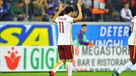 Fiorentina-Roma 1-2, Salah, autore del primo gol dei giallorossi (foto Giacomo Morini)