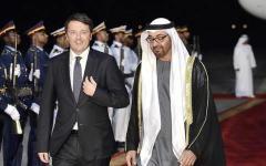 Firenze: Matteo Renzi accoglie in Palazzo Vecchio il principe arabo Mohammed Bin Zayed Al Nahyan