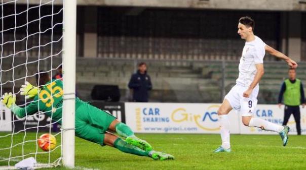 Verona-Fiorentina, il gol di Kalinic