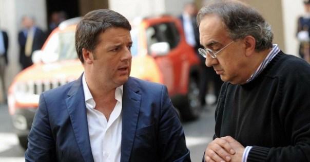 Renzi e Marchionne: il manager Fiat  disse che erano stati gli industriali a favorire  la scalata dell'ex sindaco di Firenze