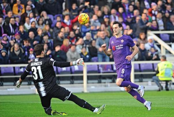 Nicola Kalinic, autore del primo gol all'Udinese, uil decimo in questo campionato