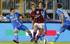 L'Empoli riaggancia due volte il Milan: 2-2. Zielinski e Maccarone rispondono a Bacca e Bonaventura. Pagelle