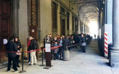 Firenze, Uffizi: oltre 22.000 visitatori nel week end pasquale, in aumento (+ 5,79%) rispetto al 2015