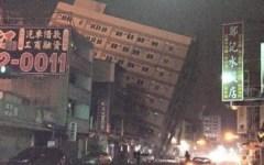 Terremoto: scossa di magnitudo 6.4 a Taiwan. Palazzi crollati, soccorritori al lavoro