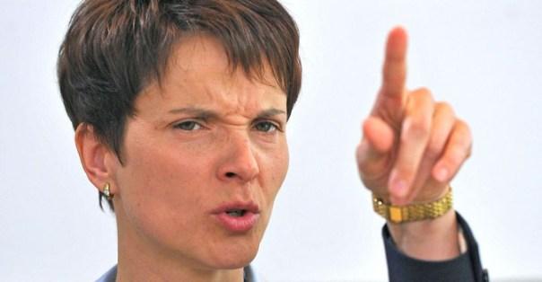 La leader di AfD Frauke Petry