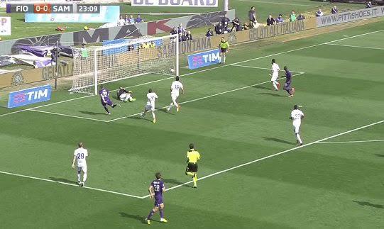 Il gol segnato da Ilicic, nel primo tempo