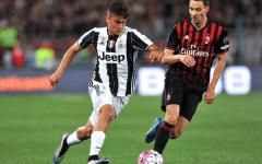 Dybala in azione nella finale di Coppa Italia, Juventus-Milan, vinta dai bianconeri (1-0) ai supplementari