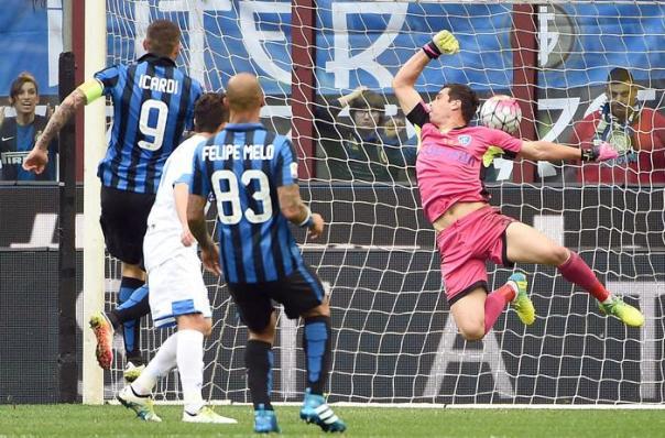Il gol di Icardi, il primo dei nerazzurri