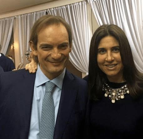 Giulia Ballestri con il marito, il chirurgo Matteo Cagnoni, accusato di omicidio
