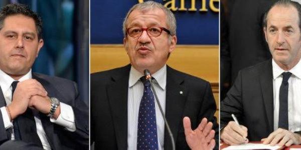 Trilaterale fra Toti, Maroni e Zaia: