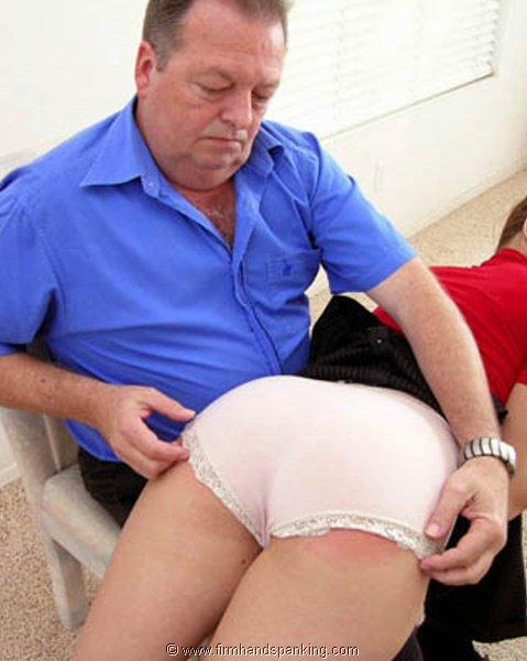 her first otk spanking