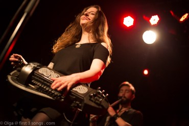Anna plays the Hurdy Gurdy at Max Watts in Melbourne