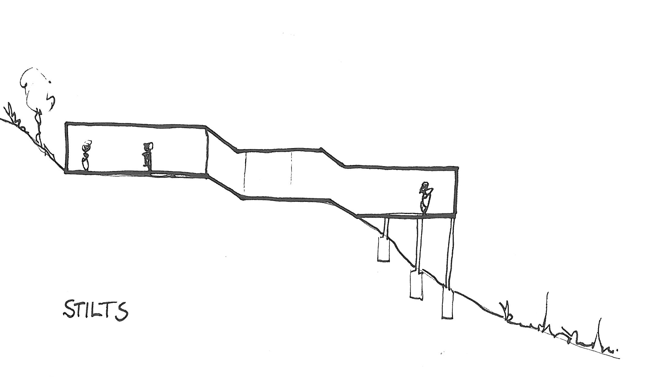 Tips for building on a sloped terrain first in architecture for Building on a slope cost