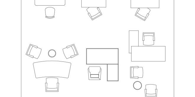 Free CAD Blocks Furniture Office Desks First In Architecture