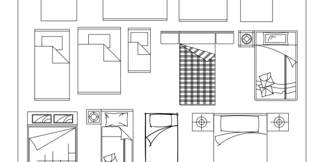 Free cad blocks beds and wardrobes first in architecture for Bed elevation blocks