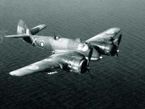 Beaufighter flying