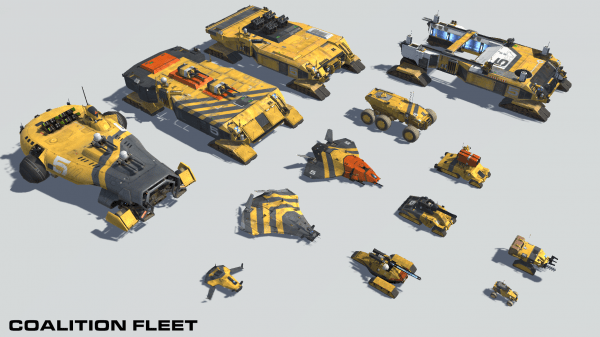 Deserts of Kharak coalition fleet