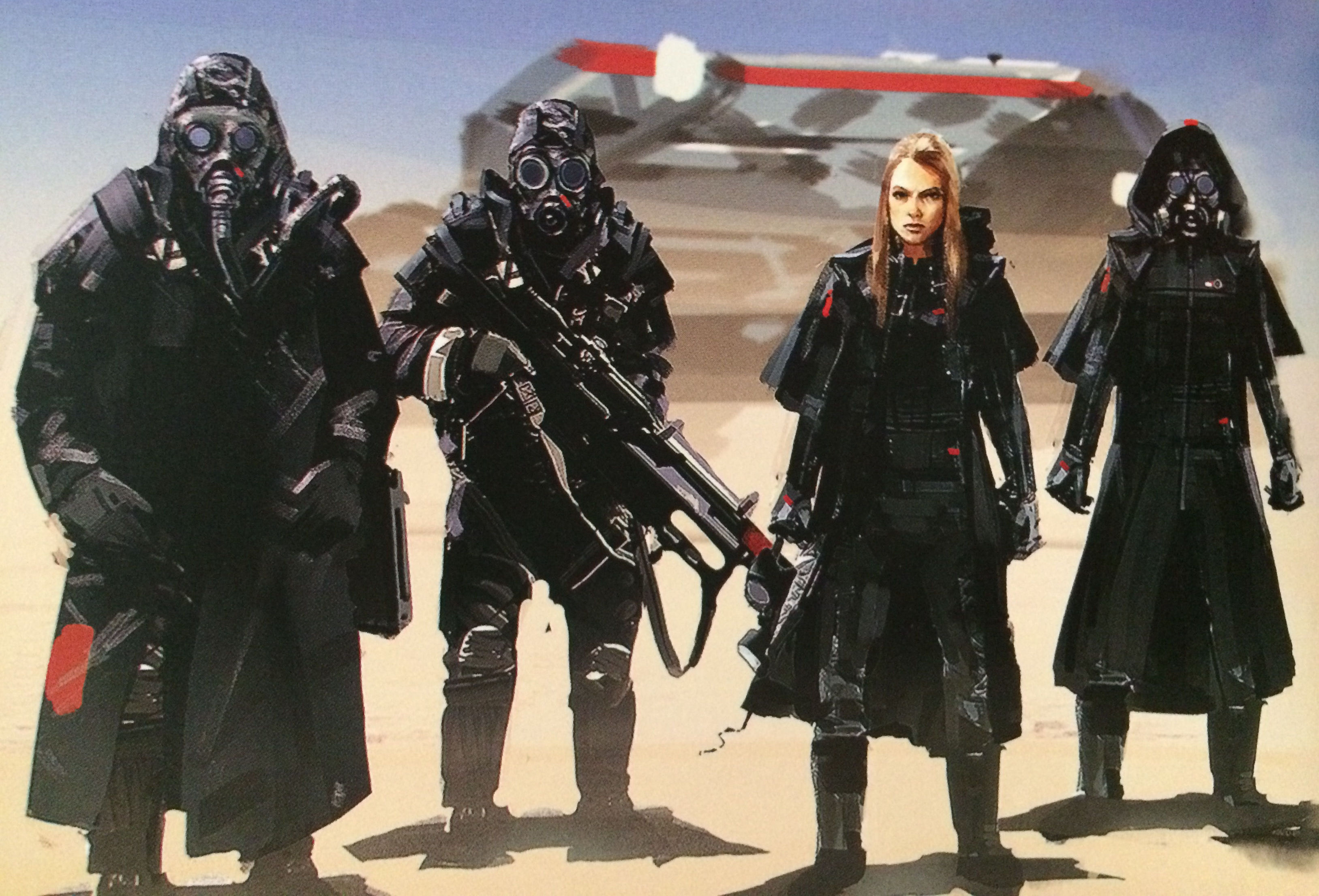 Homeworld Deserts of Kharak Collector's Edition Concept Art - Gaalsien Desert Troop Concepts