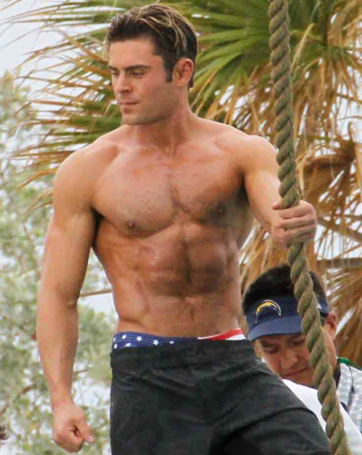 Zac Efron Shirtless On Baywatch Set image