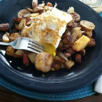 apple and potato dinner hash