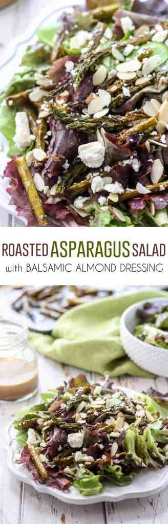 Roasted Asparagus Salad with Balsamic Almond Dressing - Fit Mitten ...