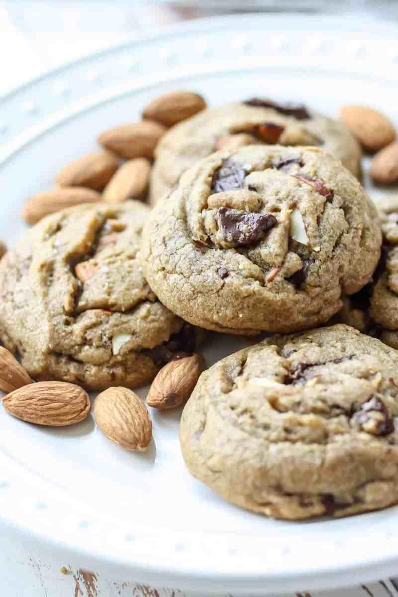 Salted Dark Chocolate Chunk & Almond Cookies