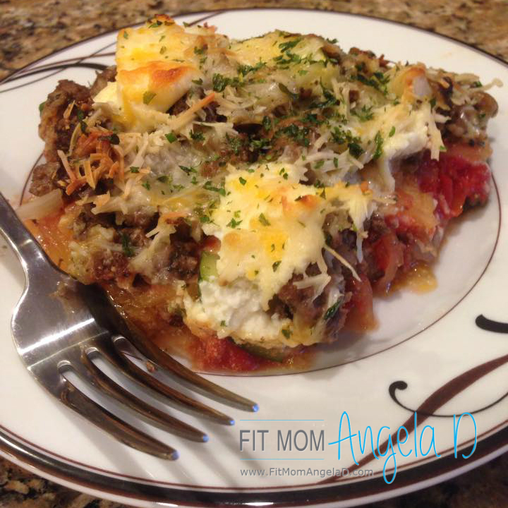 Spaghetti Squash Lasagna Bake – 21 Day Fix Approved