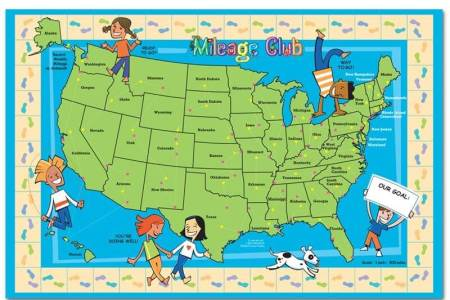 Map Of Usa With Mileage - Us mileage map