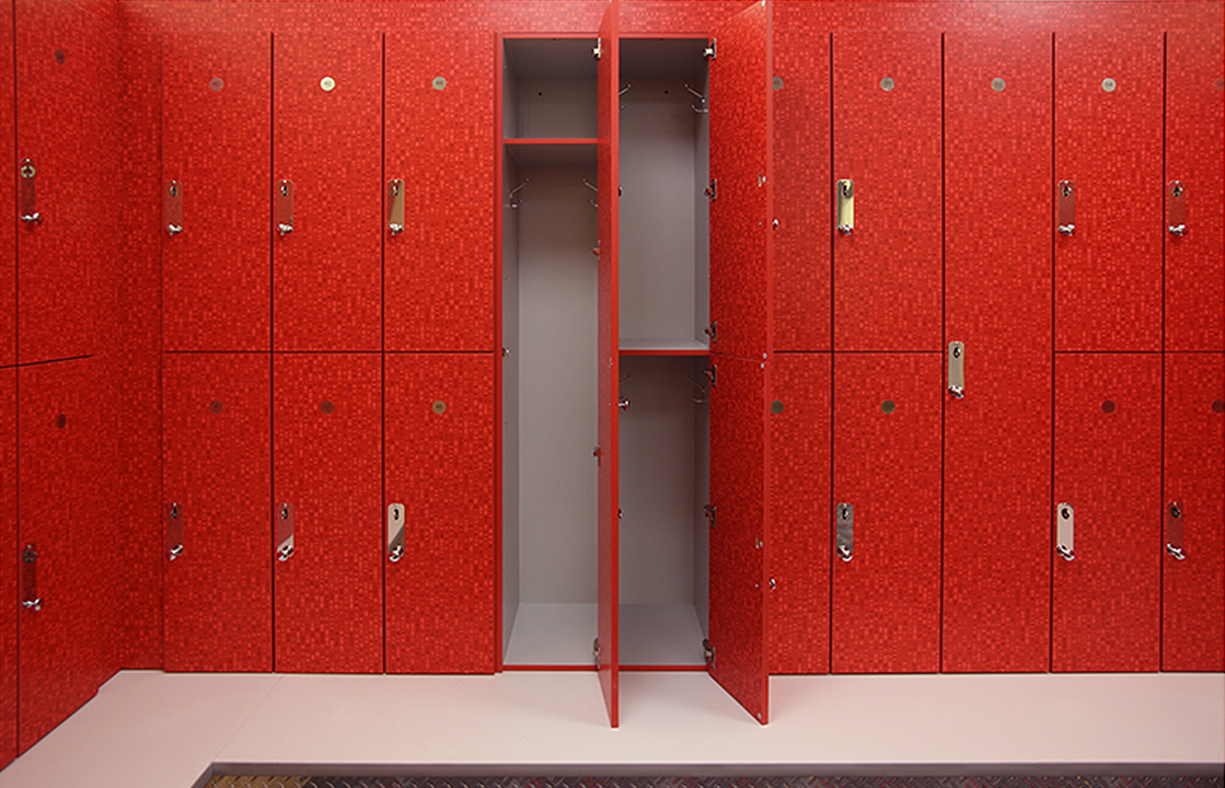 Laminate Lockers Fitness Finishes