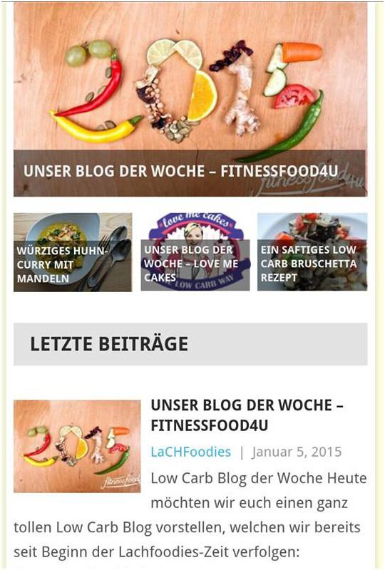Fitnessfood4u ist Blog der Woche