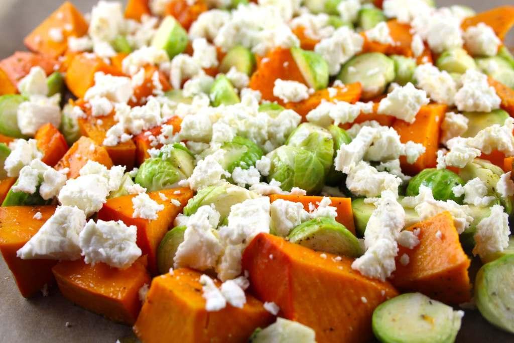 Herbst-Winterliches Gemüse-Gratin mit Kürbis und Rosenkohl