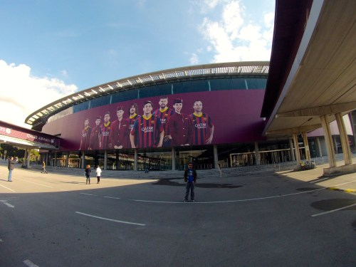 Fitzmagic at Camp Nou, home of Barcelona F.C. in Barcelona, Spain.