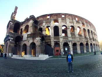 By the Colosseum in Rome, Italy.