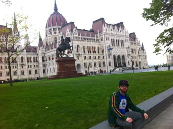 Hungarian Parliament Building in Budapest.  Excellent place for a rest.