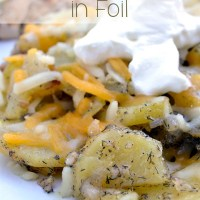 Dill Grilled Potatoes in Foil
