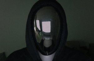 Creepy No Face Halloween Mirror Mask