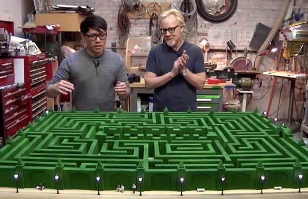 Adam Savage Constructs a Model of THE SHINING's Maze