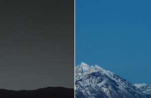 Earth from Mars and Mars from Earth