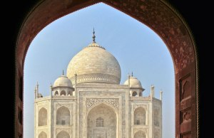 Perfectly Framed Taj Mahal