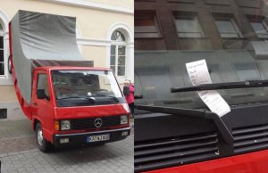 City Issues Parking Ticket to Car Sculpture itCommissioned