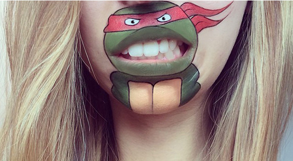 Makeup Artist Paints Cartoon Characters Onto Her Lips
