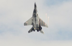 Vertical Takeoff of a MiG-29 Fighter Jet