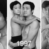 Father And Son Took The Same Picture For 28 Years - Till The End