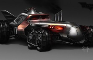 Steampunk-Inspired Batmobile Fan Art