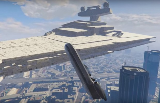 STAR WARS Vehicles Flying Over Los Santos in New GTA V Mod