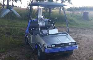 Golf Cart Modelled As DeLorean From BACK TO THE FUTURE