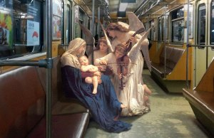 Classic Paintings Merged Into Modern Life