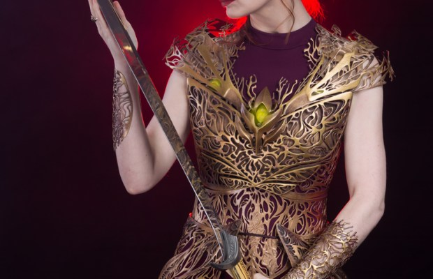 3D Printed Armor Modeled by Felicia Day