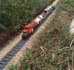 LEGO Train With GoPro Making a Journey Across House & Garden