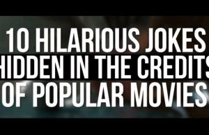 Funny Jokes Hidden in The Credits of Popular Films
